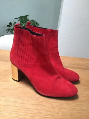 Opening Ceremony Ankle Boots Brenda Wildleder Suede rot