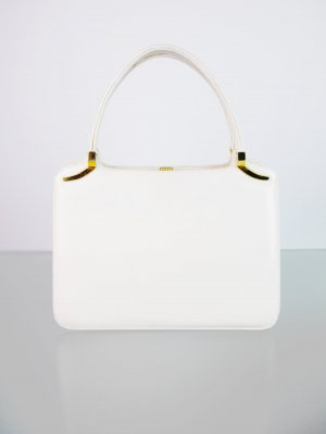 Carry Bag white imitation leather