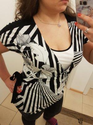 Optisches Wickel-Shirt mit Schleife