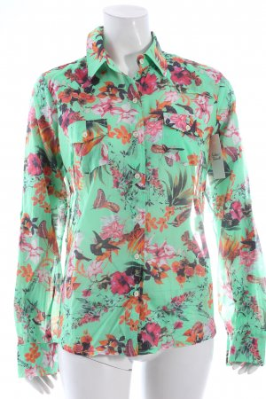 Opulence England Langarmhemd florales Muster extravaganter Stil