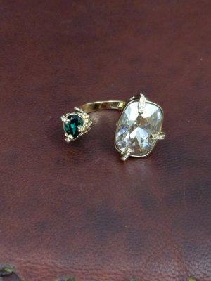 Swarovski Ring gold-colored-green