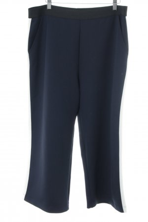 Opus 3/4 Length Trousers blue-white striped pattern business style
