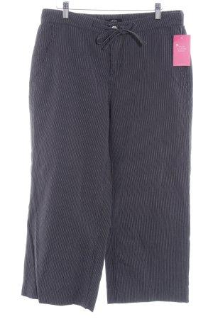 Opus Pantalon 7/8 gris anthracite-blanc motif rayé style décontracté