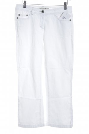 Opus Jeans a 7/8 bianco stile casual