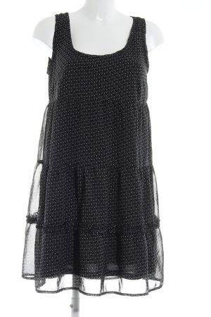 Opus A-Linien Kleid schwarz abstraktes Muster Casual-Look