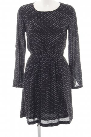 Opus A-Linien Kleid schwarz-blassblau Farbtupfermuster Casual-Look