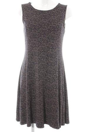 Opus A-Linien Kleid schwarz Farbtupfermuster Casual-Look