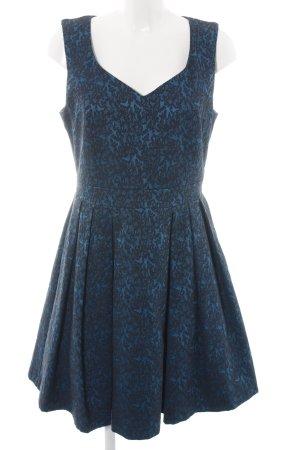 Opus Abendkleid blau-schwarz Allover-Druck Elegant