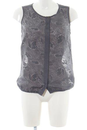 Opus ärmellose Bluse schwarz-wollweiß Blumenmuster Casual-Look