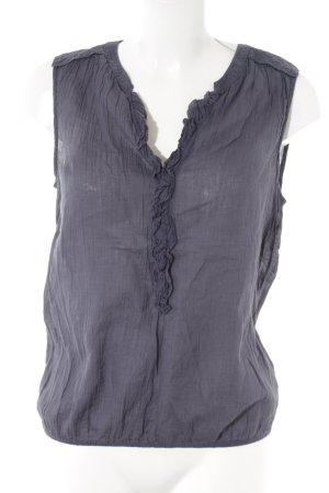 Opus ärmellose Bluse graublau Casual-Look