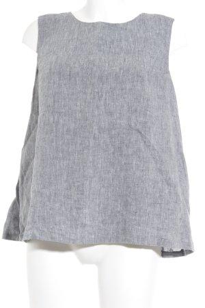 Opus ärmellose Bluse graublau meliert Business-Look