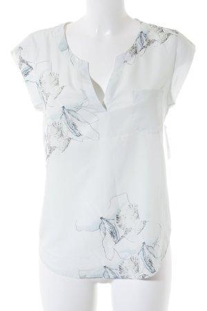 Opus ärmellose Bluse mint-dunkelgrün florales Muster Elegant