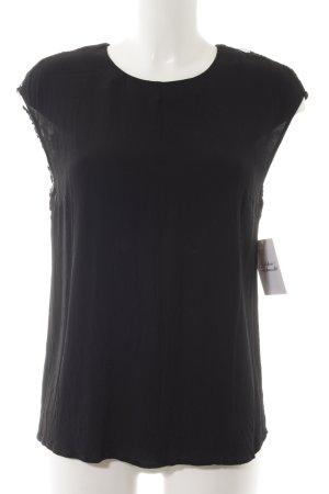 Opus ärmellose Bluse schwarz Elegant