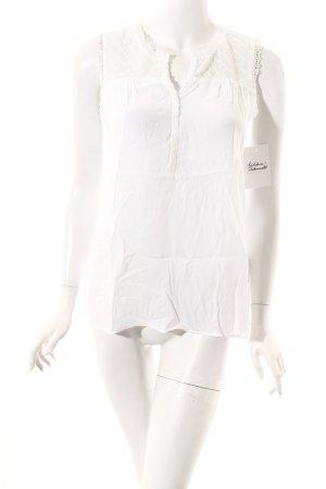 Opus ärmellose Bluse weiß