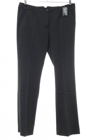 Opus Suit Trouser black-natural white striped pattern business style