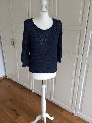 Opus Bänchengarn Pullover dunkelblau 38