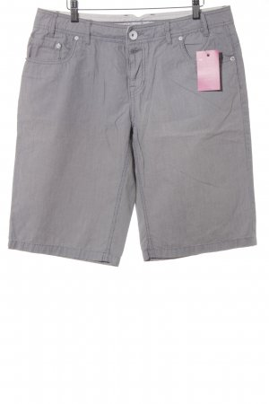 Opus Bermudas white-slate-gray striped pattern casual look