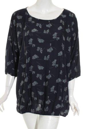 Opus Bluse dunkelblau-grau florales Muster Casual-Look
