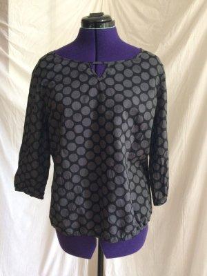Opus Bluse in mit schwarz-grauem Muster