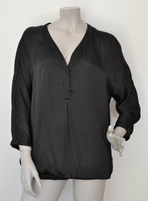 Opus Blouse oversized noir polyester