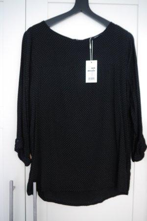 Opus Bluse Top Shirt schwarz + weiße Mini-Punkte dots NEU mit Etikett!