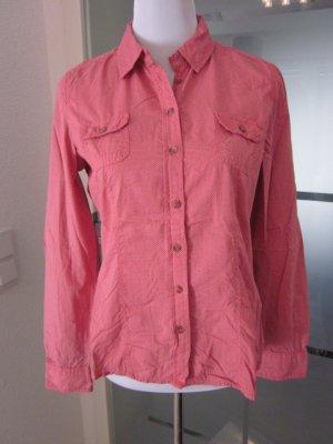 Opus Blusen hemd Rosa weiss gepunktet Gr 36