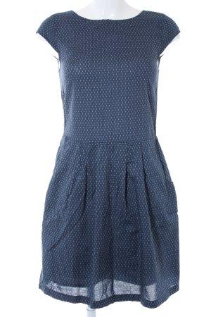 Opus Robe chemisier bleu foncé-bleu azur motif de tache style décontracté