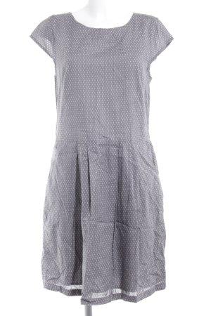 Opus Blusenkleid grau-weiß Punktemuster Casual-Look