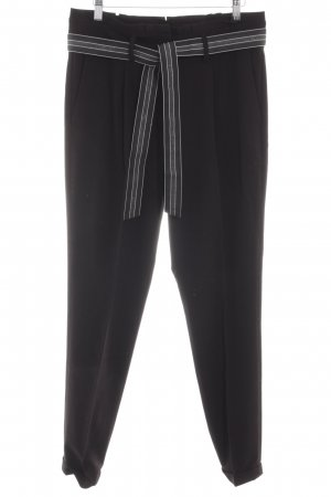 Opus Boyfriend Trousers black casual look