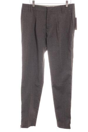 Opus Pantalon à pinces gris foncé-gris motif à carreaux style d'affaires