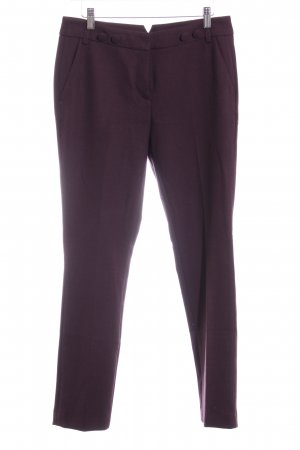 Opus Bundfaltenhose purpur Business-Look