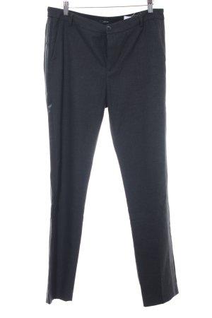 Opus Pantalone a pieghe nero-grigio scuro puntinato stile professionale