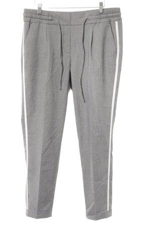 Opus Pantalon à pinces noir-blanc motif à carreaux style d'affaires