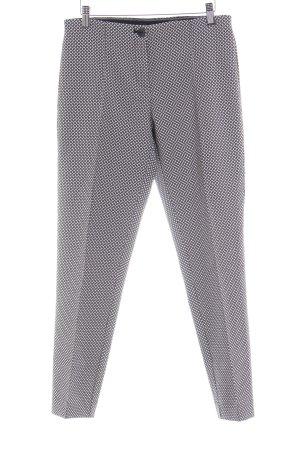 Opus Pantalon à pinces blanc-noir motif abstrait style d'affaires