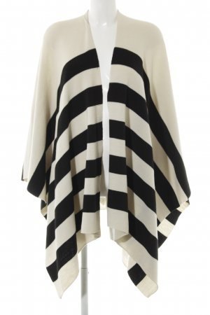 Opus Cape black-natural white striped pattern casual look