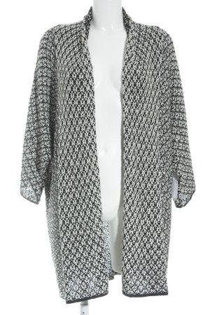 Opus Cardigan nero-bianco sporco Motivo a maglia leggera stile casual