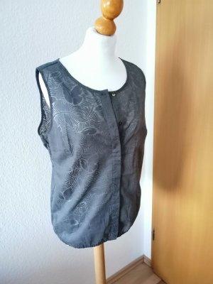 Opus Chiffon Bluse grau Shirt leichtes Top 42