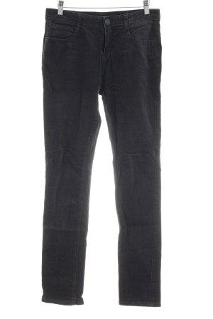 Opus Pantalon en velours côtelé gris style décontracté