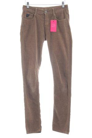 Opus Pantalone di velluto a coste marrone chiaro stile casual