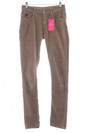 Opus Corduroy Trousers light brown casual look