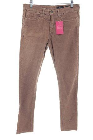 Opus Pantalone di velluto a coste marrone chiaro stile semplice