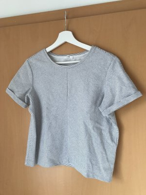Opus Camisa recortada blanco-azul oscuro