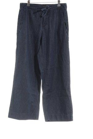 Opus Pantalone culotte blu scuro puntinato stile da moda di strada