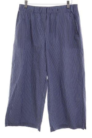 Opus Culottes white-cornflower blue striped pattern casual look
