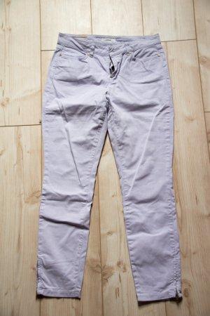 OPUS Elida 7/8 36 S Sommerhose Damen Jeans flieder hell weiß Büro schick leicht