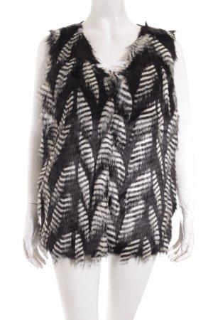 Opus Fellweste weiß-schwarz extravaganter Stil