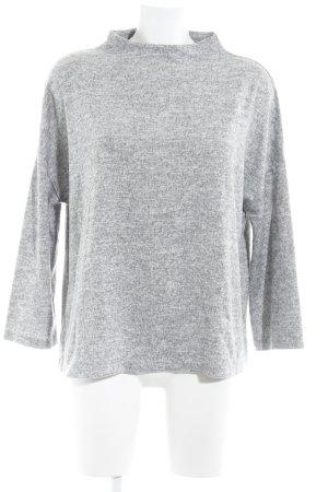 Opus Sudadera de forro gris-gris claro moteado look casual