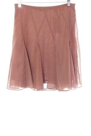 Opus Godet Skirt russet-white spot pattern elegant