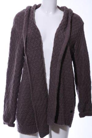 Opus Coarse Knitted Jacket brown casual look