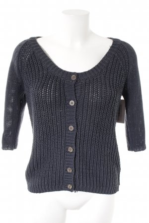 Opus Coarse Knitted Jacket dark blue casual look